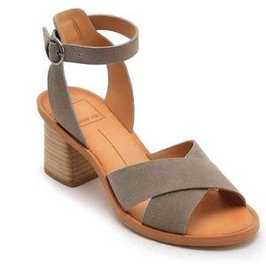 Dolce Vita Rio Gray Sandals Sz 7 Block Heel